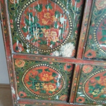 Antique cabinet restore before damage restore