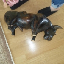 Wooden Cow Broken Leg